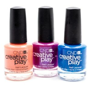 CND Creative Play Nail Lacquer set of 3: Peach of Mind, The Fuchsia is Ours