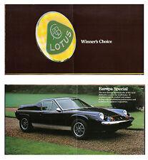 Lotus Elan Sprint +2S 130 & Europa Special 1972-73 Original UK Sales Brochure