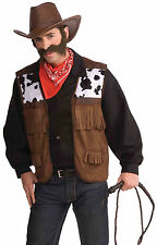 Adult Men's Cowboy Vest Wild West Costume Standard