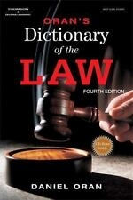 Paralegal Reference Materials: Oran's Dictionary of the Law by Daniel Oran...