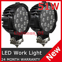 """2PCS 51W 7INCH OFFROAD Replace HID 4WD TRUCK UTE SPOT LED DRIVING LIGHTS 4x4 7"""""""