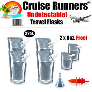 Cruise Ship Flask Kit Rum Runner Alcohol Liquor Smuggle Sneak Booze Bags Plastic