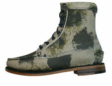 Camouflage 100% Leather Casual Boots for Women