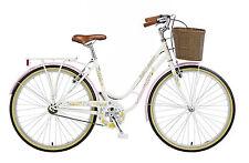 "Viking Crystal Ladies Traditional Dutch Style Bike 26"" Wheel White Bicycle VG402"