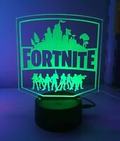 Fortnite game lampada luce notturna Led 3D Acrylic Night Light Lamp 7 Colour