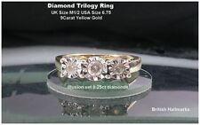 Anniversary Natural Round Not Enhanced Fine Diamond Rings