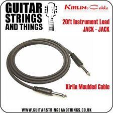 Kirlin 20ft Moulded Instrument Cable JACK-JACK - ideal for Elec Guitar / Keys