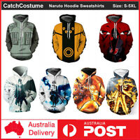 Anime Naruto Hoodie 3D Printed Hooded Sweatshirts Coat Jacket Cosplay Costume