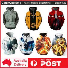 Anime Naruto Hoodie 3D Printed Hooded Sweatshirts Coat Jacket Cosplay Costume