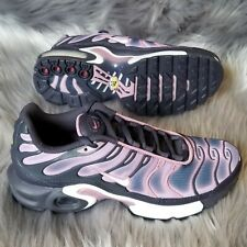 New Size 6Y Nike Air Max Plus TN GS Shoes Gridiron Grey/Pink/White 718071-006