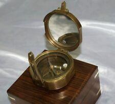 Bussola da puntamento navigazione livello Stanley London 1917 con box in legno