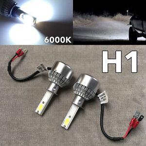 FOG LIGHTS 36W X2 3800LM LED H1 Bulbs HIGH POWER COB 6000K White W1 For JAE