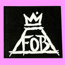 FOB Fall Out Boy Pop Punk Music Band Logo Rock Embroidered Iron On Patch