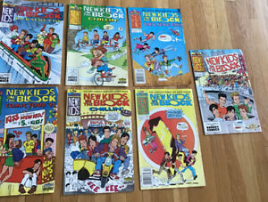 New Kids On The Block Harvey Rockomics Lot Of 7 1st  Issues,Vintage, 1990s, Rare