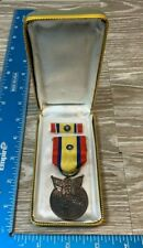 Vintage Cased Ww2 Republic of China World War Ii Service Medal No A13027 98B