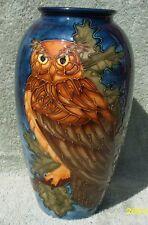 Moorcroft Large Sally Tuffin 'EAGLE OWL' vase