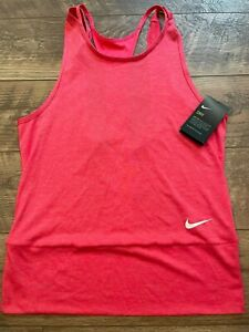 NIKE driFIT Pink Breathable Gym Yoga Athletic Tank Top womens Small new NWT