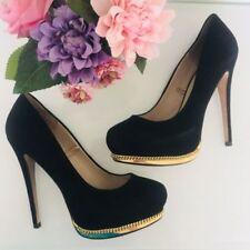 Zara Suede Court Shoes for Women