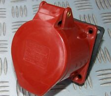 32 Amp 415V dritto PANEL MOUNT 5 pin Socket rosso TRIFASE ht-125 32 bis Generatore