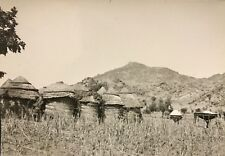 Cameroun village Rhumsiki éthnie Kapsiki Afrique CIRCA 1950  argentique