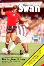 Swansea City v Nottingham Forest programme, Division 1, December 1981