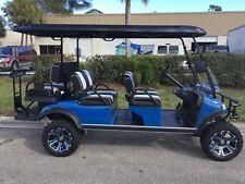 2021 BLUE Evolution PRO LSV Golf Cart Car Forester 6 Passenger seat Street Legal