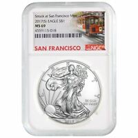 2017 (S) American Silver Eagle | NGC MS-69 San Francisco Trolley Label