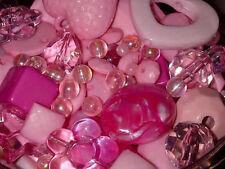 100g Assorti Acrylique Formes perles pour fabrication des bijoux Craft ROSE