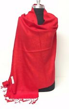 New Solid Paisley Pashmina Silk Cashmere Shawl Scarf Stole Wrap Soft Red#er2
