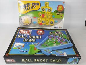 2x Kids Fun Games Crazy Can alley and Ball Shoot Bundle