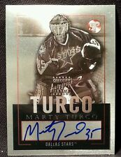 2003-04 Topps Pristine Marty Turco Autograph Dallas Star Team card Hockey signed