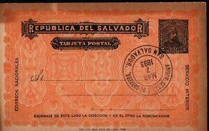 El Salvador 1893 2c Preprinted Postal Card Postal History