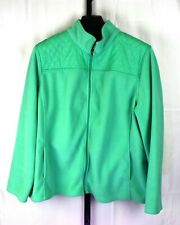 Talbots Green Zippered Fleece Jacket Plus Size 2X