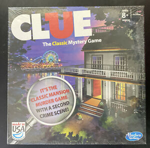Clue Game 2013 Edition w/ 2 Versions Classic Mansion Game & Boardwalk New Sealed