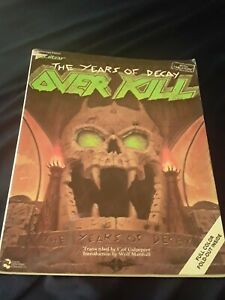 OVERKILL THE YEARS OF DECAY GUITAR TAB SONGBOOK TABLATURE MUSIC BOOK VERY RARE!