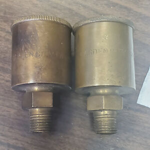 OLD Large GARDEN CITY FAN Company Brass  OILERS GREASERS Cups NOS