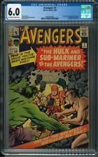 Avengers 3 - CGC 6.0 - Off-White to White Pages - First Hulk/Submariner Teamup!