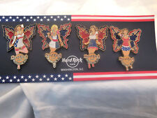 Hard Rock Cafe Washington Patriotic Stained Glass Faries '11 Set of 4 Pins