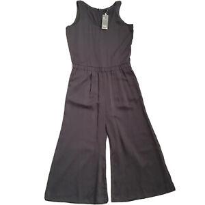 Eileen Fisher Sleeveless Tencel Jumpsuit Size XS Graphite