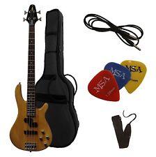 E-bass, jb10 naturaleza vonvision-con cable + Gig-bolsa + cinturón/volumen 3 xpiks-Plektren!