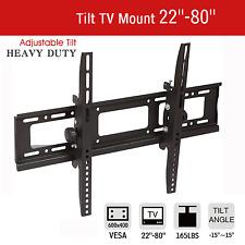 LCD LED PLASMA FLAT TILT TV WALL MOUNT BRACKET 32 37 42 46 50 55 57 60 65 70 80