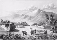 ARMENIA - VIEW of the SMALL & the GREAT ARARAT (Masis) - Engraving of 19th c.