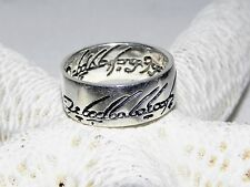 Jrr Tolkien Lord of the Rings Sterling Silver The One Ring of Power Band Size 8