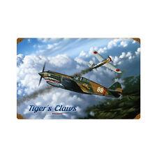 Curtiss p 40 Flying Tiger combate aéreo Nakajima ki-27 retro sign chapa escudo Escudo