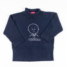 Boy's Caillou Blue Roll-Neck Sweater Medium Romeo & Juliette