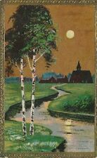 AK, Grafik, Dorflandschaft m. Bach, 1920; 5026-37