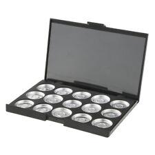 Round Metal Pans & Magnetic Makeup Palette Cosmetics Pigment Container Black