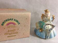 Josef Originals Birthday Angel Girl #9 Figurine Brown Eyes New/Box/Tag