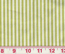 Green White  P Kaufmann Upholstery Fabric Good Lookin' Stripe Sprout CL Green