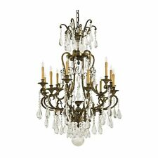 Metropolitan Lighting N950115 Crystal 12-Light 1-Tier Chandelier  Oxidized Brass